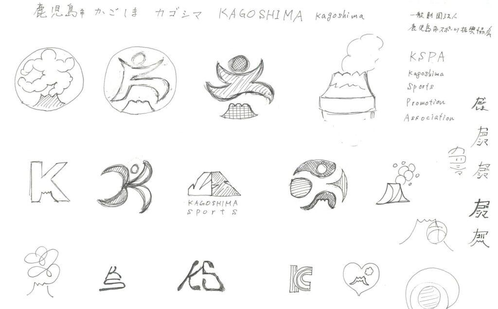 ロゴマーク手描きラフ
